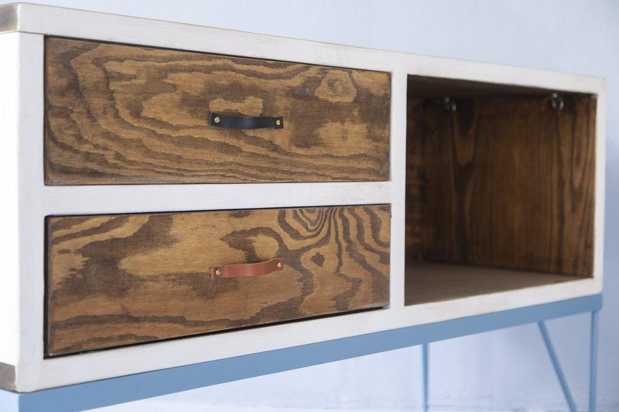 FraaiBerlin Sideboard Mira aus Bauholz & Eisen 120x70x40cm