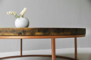 FraaiBerlin Couchtisch aus Eiche und Eisen Loire