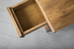 FraaiBerlin Kleiner Schreibtisch aus Bauholz Siara, 140 x 70 cm
