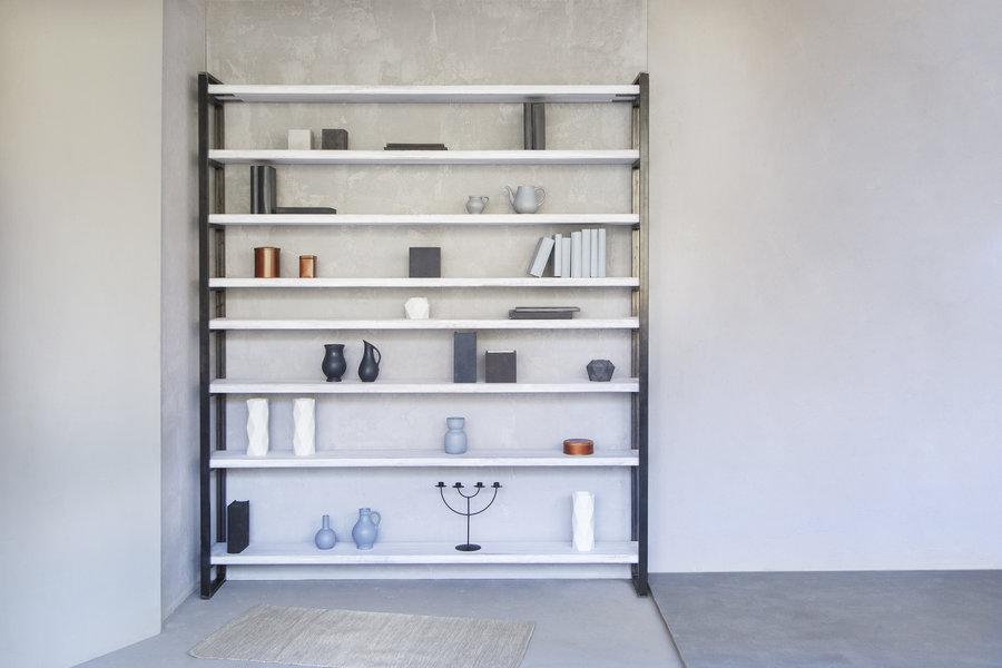 FraaiBerlin Regal Bauholz/Eisen Sinem white wash 200x29x235cm