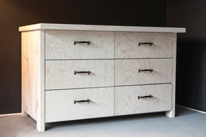 FraaiBerlin Kommode im Landhaus-Stil Inez in White Wash