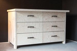 FraaiBerlin Kommode im Landhaus-Stil Lille in White Wash