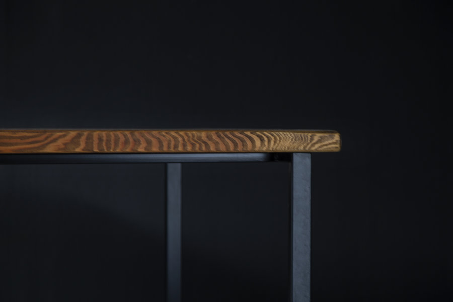 FraaiBerlin Esstisch aus Bauholz Jasmijn/Nadine schwarz 200 x100cm