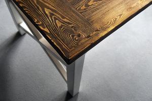 FraaiBerlin Landhaustisch aus Bauholz Nunzia/Liv  180 x 90cm