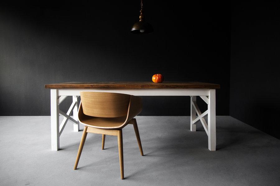 FraaiBerlin Landhaustisch aus Bauholz Nunzia/Liv