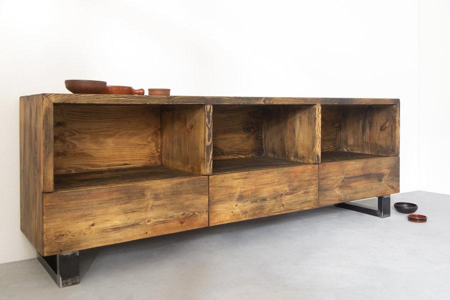 FraaiBerlin Sideboard Nantes aus Bauholz & Eisen