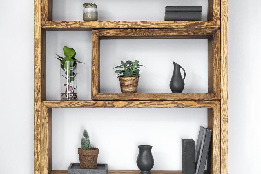 FraaiBerlin Bücherregal aus Bauholz Marie
