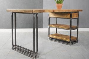 FraaiBerlin Kleiner Schreibtisch aus Bauholz Siara