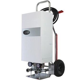 mobile Heizzentrale 24 kW auf Alu-Transportkarre Notheizung Estrichtrocknung Bautrocknung