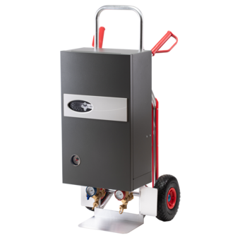 mobile Heizzentrale 21 kW auf Alu-Transportkarre Notheizung Estrichtrocknung Bautrocknung