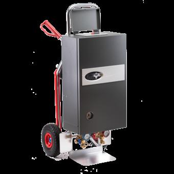 Mobile Heizzentrale 21 kW mit Automatik Estrichprogramm nach DIN + manuelle Programmierung