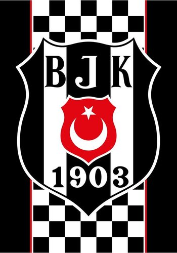 BJK neue fahne 200*300 kariert