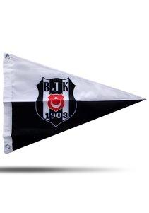 BJK tekne bayrak logo siyah beyaz 40*60