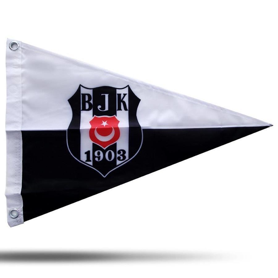 BJK bootvlag logo zwart wit 40*60