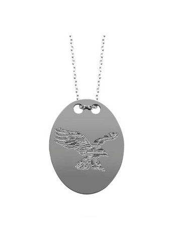 BJK necklace eagle silver