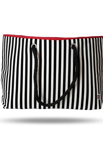 BJK beach bag striped
