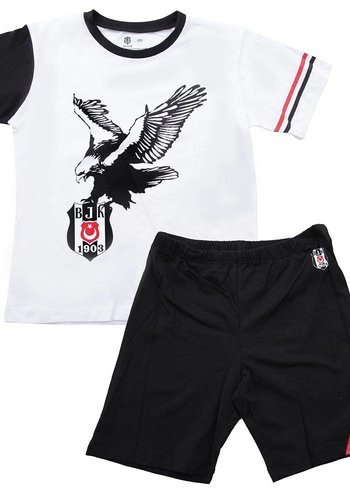 BJK two-piece outfit with Kids shorts 01 black-white