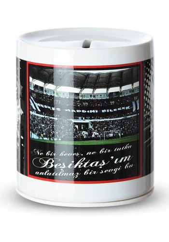 BJK cylinder money box black eagle