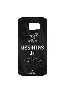 BJK samsung S6 edge black white cover