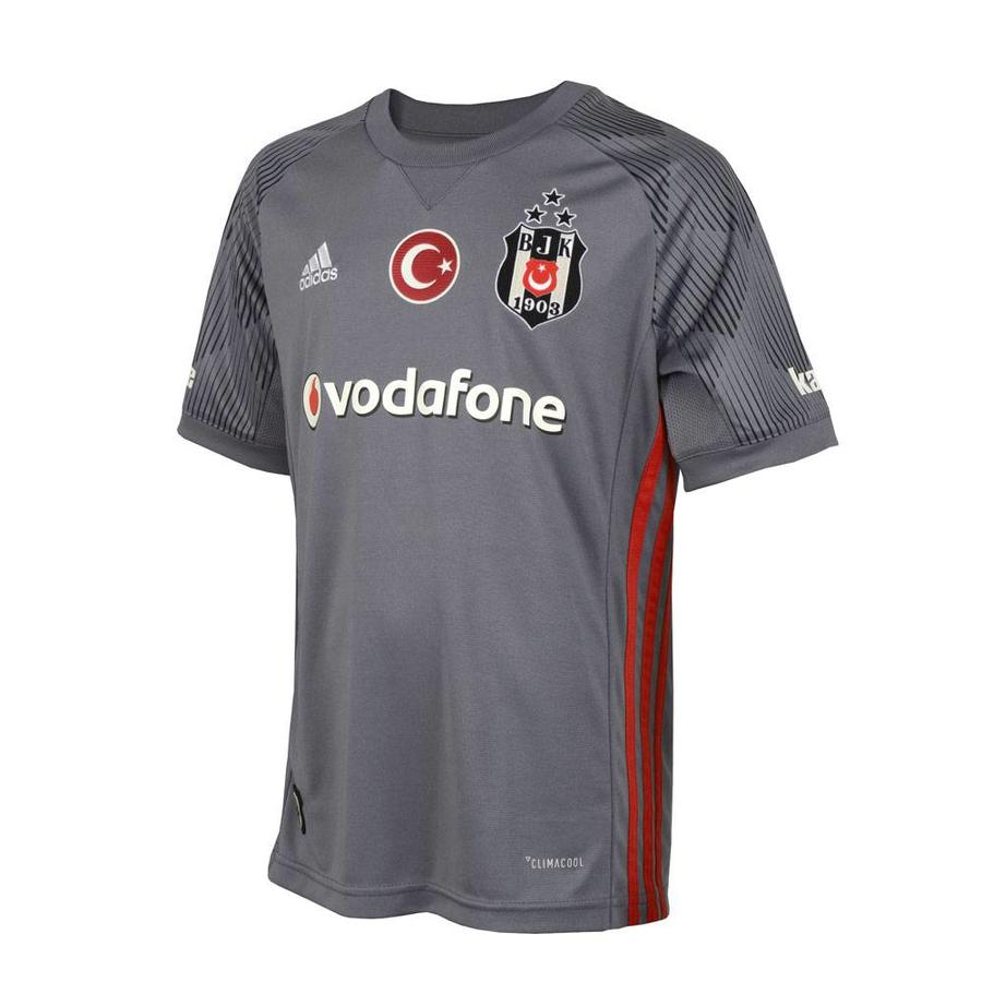 Beşiktaş Adidas kids football shirt 17-18 gray