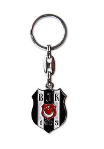 BJK logo two-sided key ring