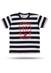 BJK KIDS T-SHIRT 02 BLACK-WHITE