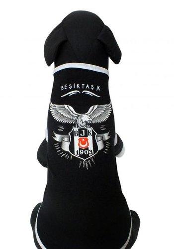BJK Gekamd huisdier t-shirt zwart
