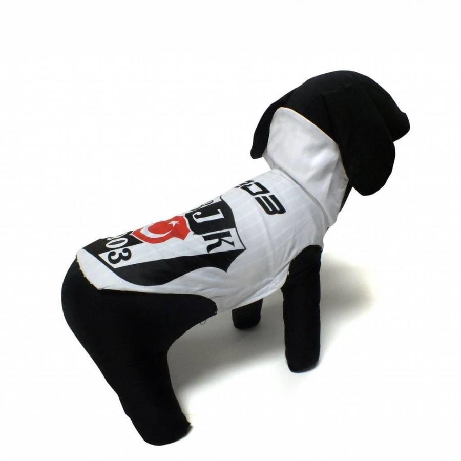 BJK Hunde Regenmantel weiß