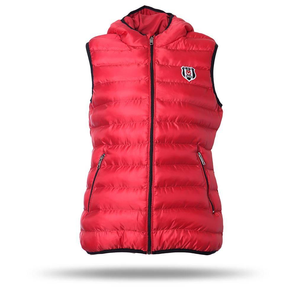 1055383fdc92a Beşiktaş Veste sans manche à capuche pour femmes rouge 8718608 ...