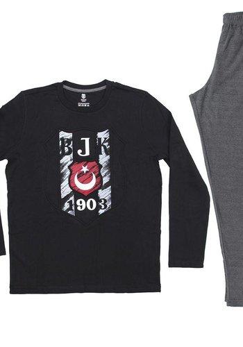 Pyjama heren zwart L9401