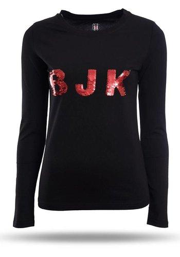 Beşiktaş Womens T-Shirt 8718123 Black - Red