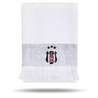 Beşiktaş 50*90 Weiss Gesicht Handtuch