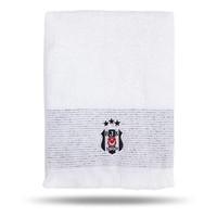 Beşiktaş 75*150 Serviette De Bain Blanc