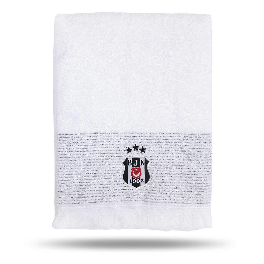 Beşiktaş 75*150 Wit Badhanddoek