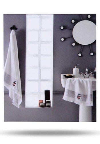 Beşiktaş 75*150 White  Bath Towel