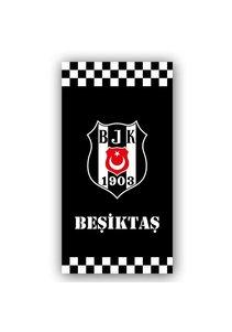 Beşiktaş Serviette de plage Classique quadrillé