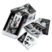 Beşiktaş 2017-18 Saison Kick off box Carte de fan Boîte en fer-blanc