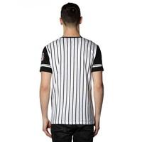 Beşiktaş college t-shirt rayé pour hommes 7718117 NOIR-BLANC