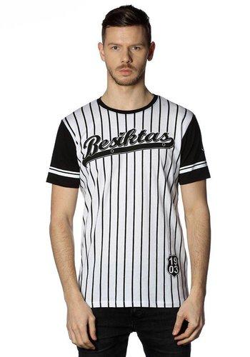 Beşiktaş gestreept college t-shirt heren 7718117 ZWART-WIT