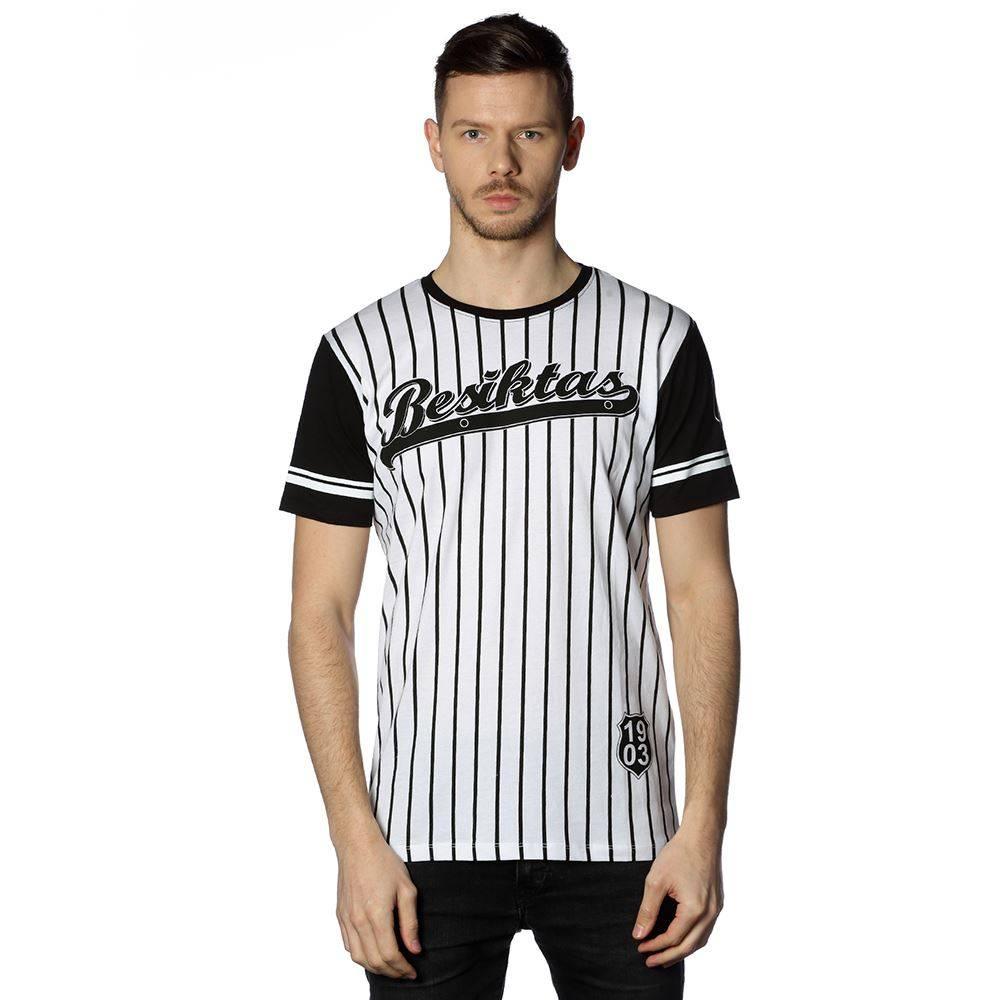 Beşiktaş mens striped college t-shirt 7718117 BLACK-WHITE - Kartal ... fd0728cc0
