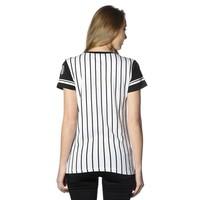 Beşiktaş womens striped college t-shirt 8718117 BLACK-WHITE