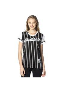 Beşiktaş womens striped college t-shirt 8718117 Black