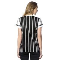 Beşiktaş gestreept college t-shirt dames 8718117 Zwart