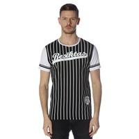 Beşiktaş college t-shirt rayé pour hommes 7718117 Noir