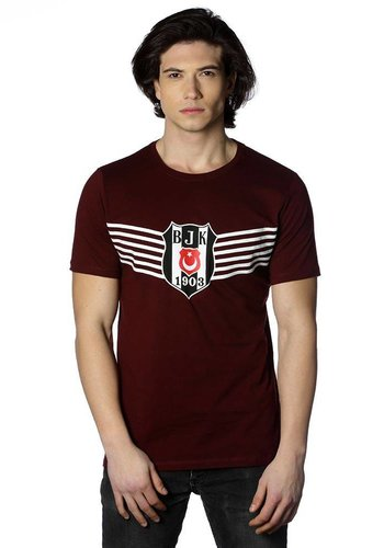 Beşiktaş Mens Victory Logo T-Shirt 7818114 Burgundy