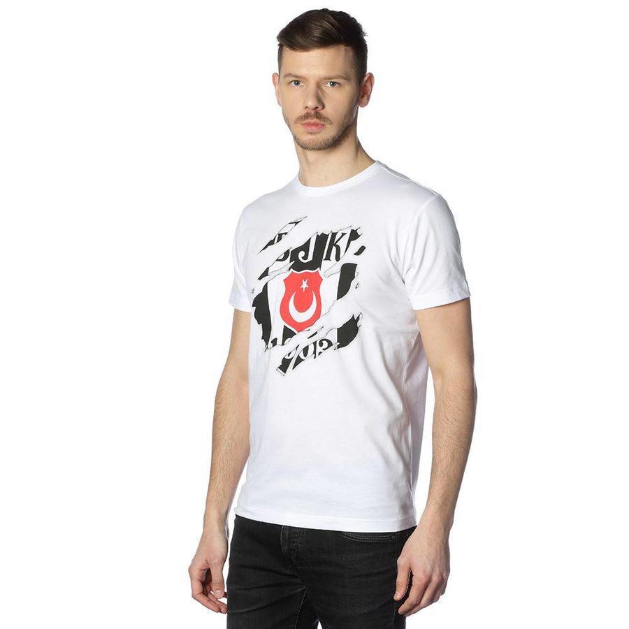 BEŞİKTAŞ PENÇE LOGO ERKEK T-SHIRT 7818112 Beyaz