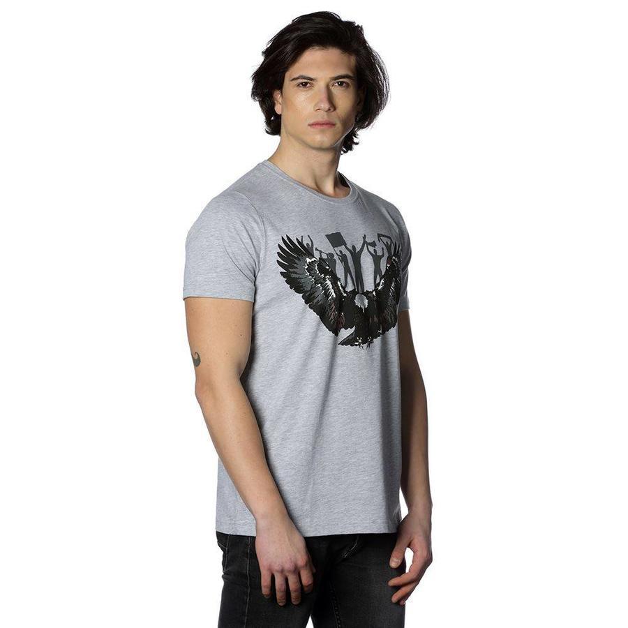Beşiktaş Adler Fan T-Shirt 7818118 Grau