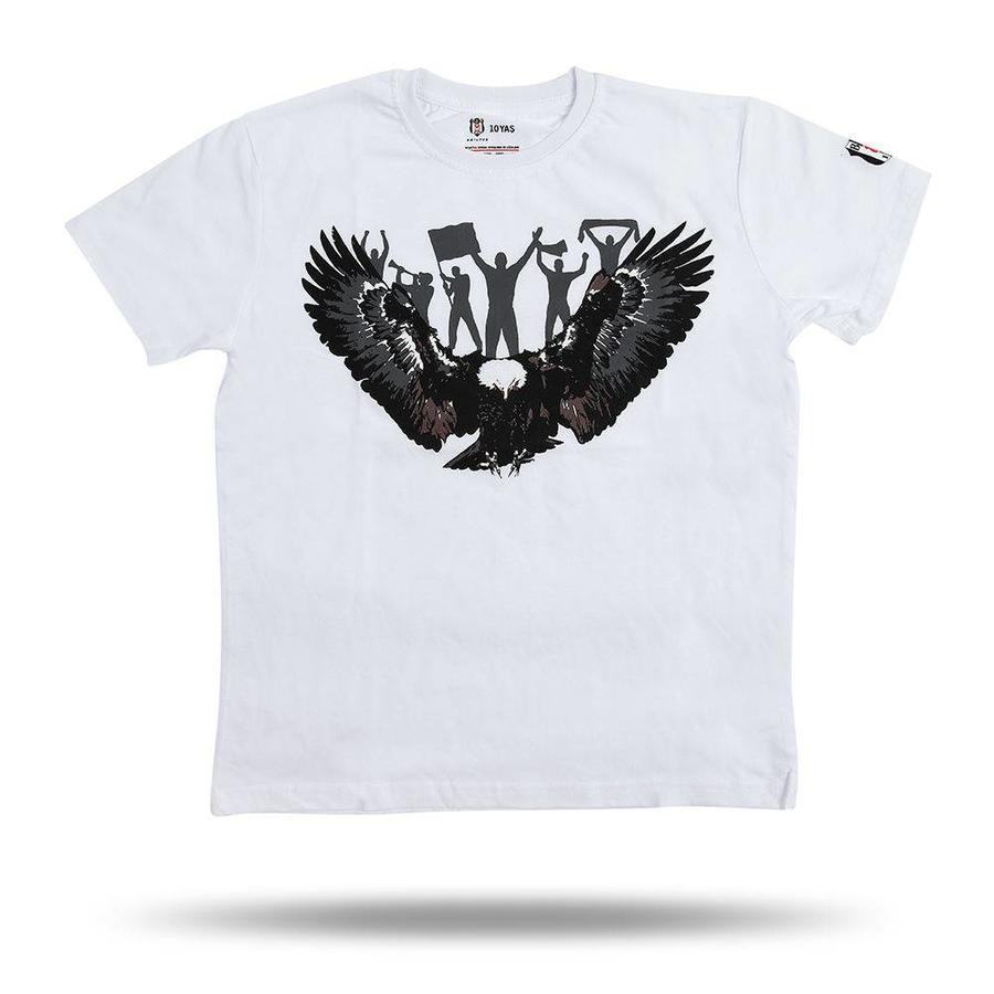 Beşiktaş T-Shirt Aigle Supporteur pour Enfants 6818118 Blanc