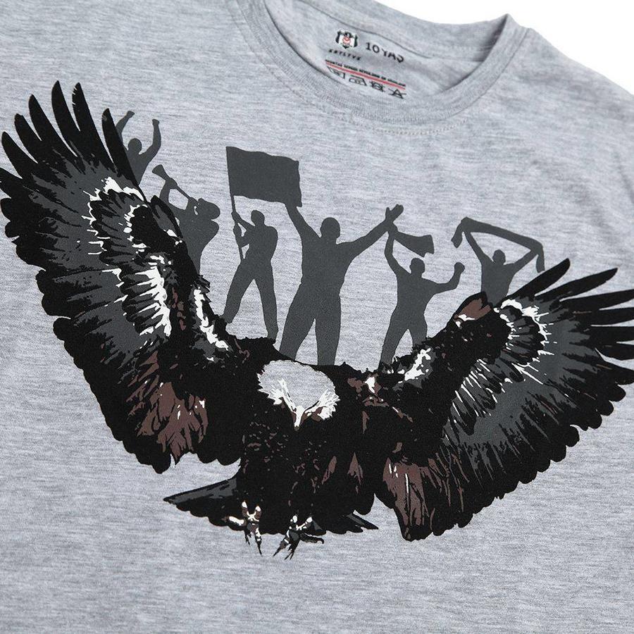 Beşiktaş Adler Fan T-Shirt Kinder 6818118 Grau