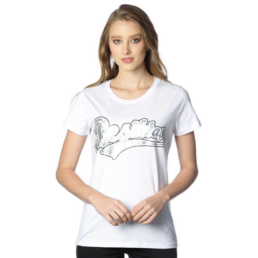 Beşiktaş College T-Shirt Spezielle Bedruckt Damen 8818103 Weiβ